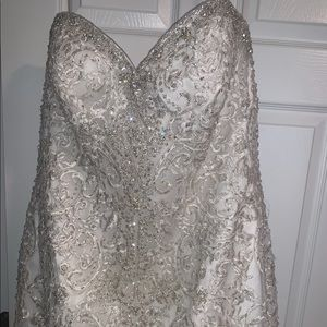 Allure bridal wedding gown. Very detailed.